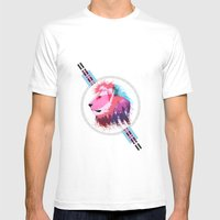 Leon neon Mens Fitted Tee White SMALL