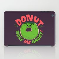 Donut Make Me Angry! iPad Case