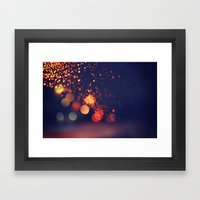 Driving In The Rain Framed Art Print