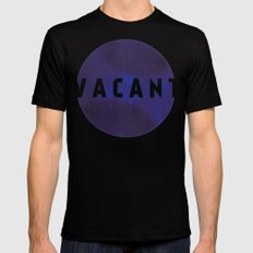 Vacant by Galaxy Eyes & Garima Dhawan Mens Fitted Tee Black SMALL