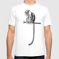 Mona Monkey Mens Fitted Tee White SMALL
