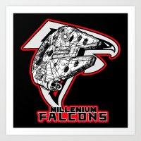 Millenium Falcons Art Print