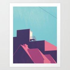 ROOFTOP Art Print