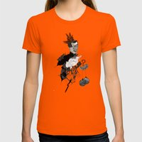 My Interrogation? Womens Fitted Tee Orange SMALL
