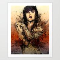 Kat Von D Art Print