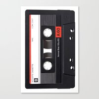 Old School Tape Canvas Print
