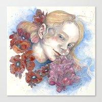 Viola, Watercolor Portra… Canvas Print