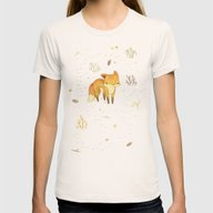 Lonely Winter Fox Womens Fitted Tee Natural X-LARGE