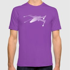 Star Wars X-Wing Mens Fitted Tee Ultraviolet SMALL