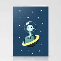 Space Alien Stationery Cards