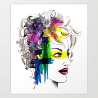 splatter in my face Art Print