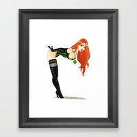Lucky Girl Framed Art Print