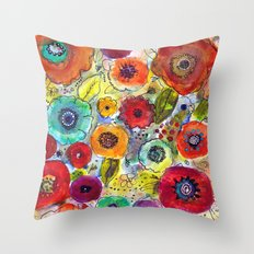 Mixed Garden Throw Pillow