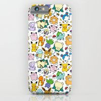 iPhone Cases featuring Cute Pokémon Doodle  by KiraKiraDoodles