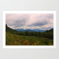 View From The Range Art Print