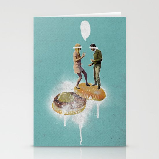 Danse Sale | Collage Stationery Card