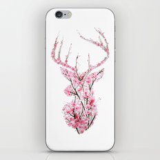 Cherry Blossom Deer iPhone & iPod Skin