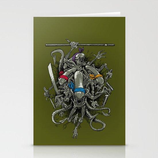 Ancient Ninja Xenomorphs Stationery Card