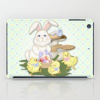 White Rabbit and Easter Friends iPad Case