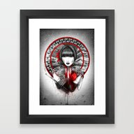 Framed Art Print featuring Lily by Marine Loup