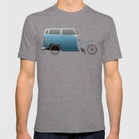 Camper Bike Mens Fitted Tee Tri-Grey SMALL