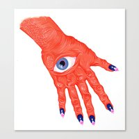 All-Seeing Nails Canvas Print
