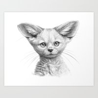 Fennec Cub G107 Art Print