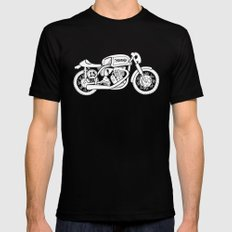 Norton Model 30 - Cafe Racer series #2 SMALL Black Mens Fitted Tee