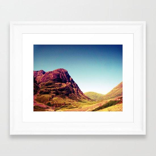Glencoe, Scotland. Framed Art Print