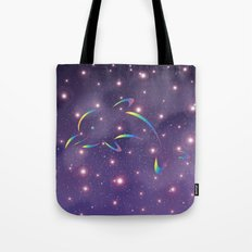 Dolphin in Universe_G02 Tote Bag