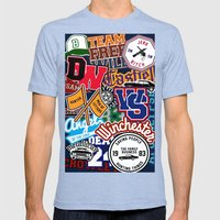 TEAM SPN Mens Fitted Tee Tri-Blue SMALL