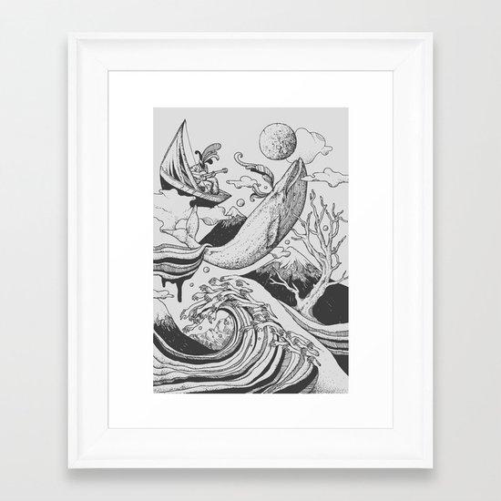 Deep and Blue Framed Art Print
