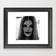 Cosmic Model Framed Art Print