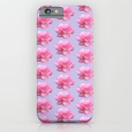 Pink Roses Pattern On Bl… iPhone 6 Slim Case