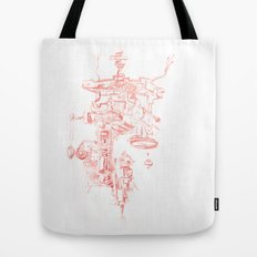 Abstract Lines, Linear Pyramid Space Tote Bag