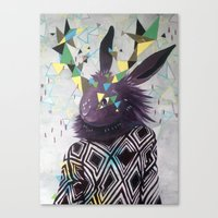 Dark Rabbit Canvas Print