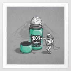 Moon Roller Art Print