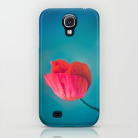 Galaxy S4 Cases featuring Red Poppy by Juste Pixx Photography