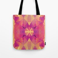 RETRO PINK GEOMETRY Tote Bag