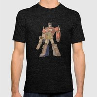 Optimus Prime Mens Fitted Tee Tri-Black SMALL