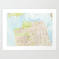 San Francisco CA City Map  Art Print