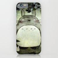 Totoro in the rain iPhone 6 Slim Case