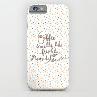 iPhone Cases featuring coffee by Riga Sutherland