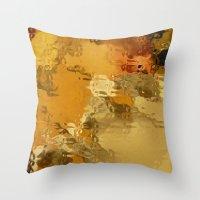 Pattern Fluid orange Throw Pillow