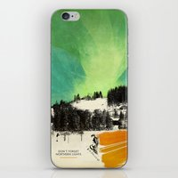 Dont Forget Northern Lights iPhone & iPod Skin