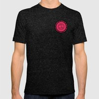 Shattered Hearts Badge Mens Fitted Tee Tri-Black SMALL