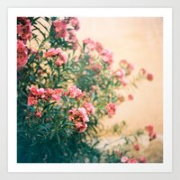 Pink Flowers In Front Of… Art Print