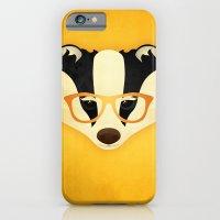 Hipster Badger: Gold iPhone 6 Slim Case