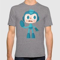 Megaman Mens Fitted Tee Tri-Grey SMALL