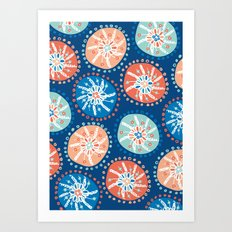 Flower Puffs Art Print
